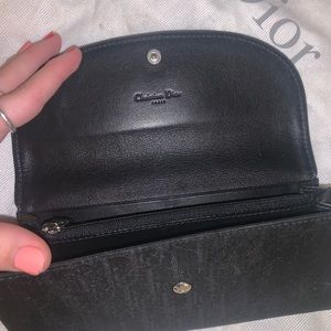Dior Bags - Vintage black Christian Dior purse & wallet set